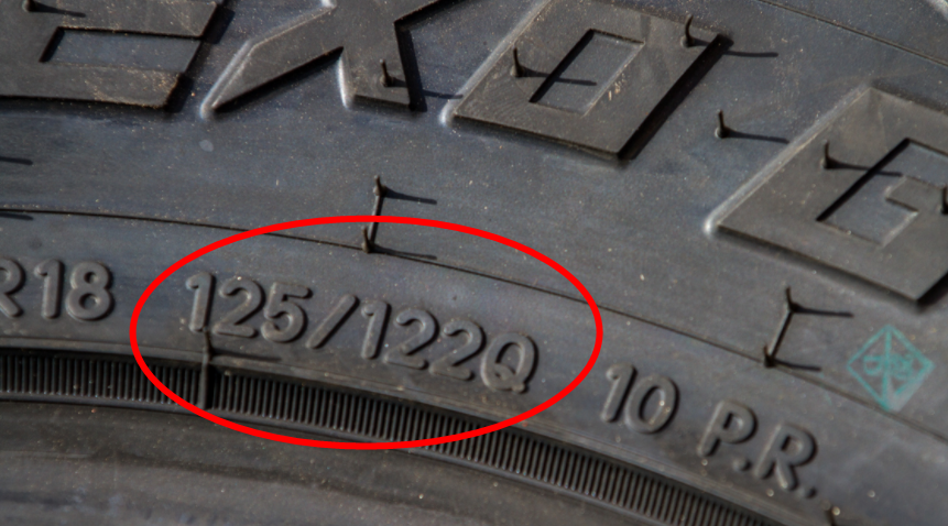 how to read a tire LT tire load rating