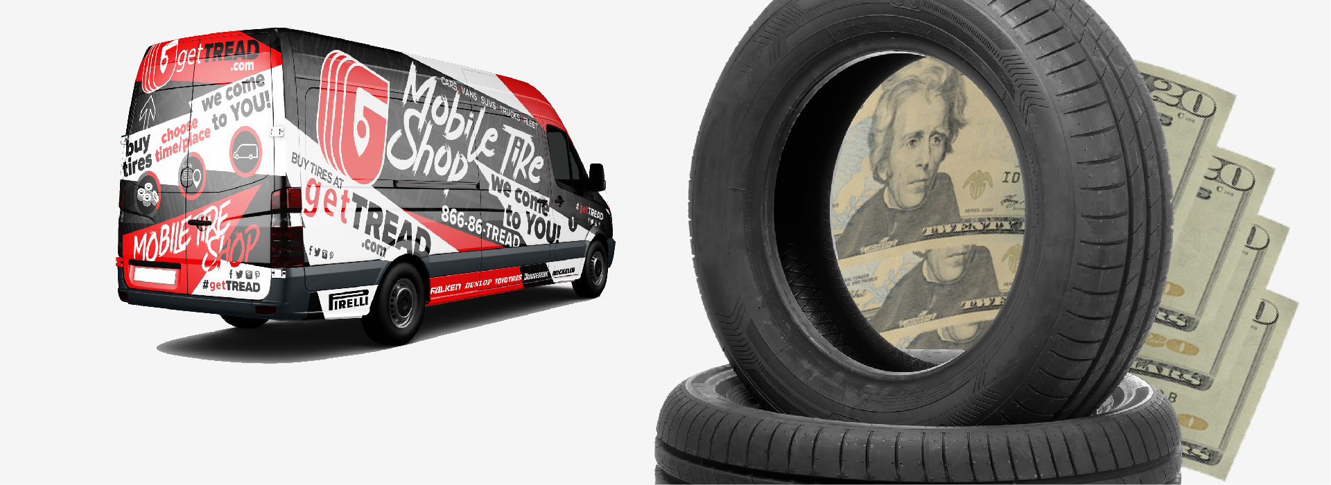 We offer mobile tire shop services for fleet vehicles